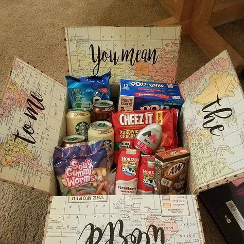 care package for a girlfriend you mean the world to me