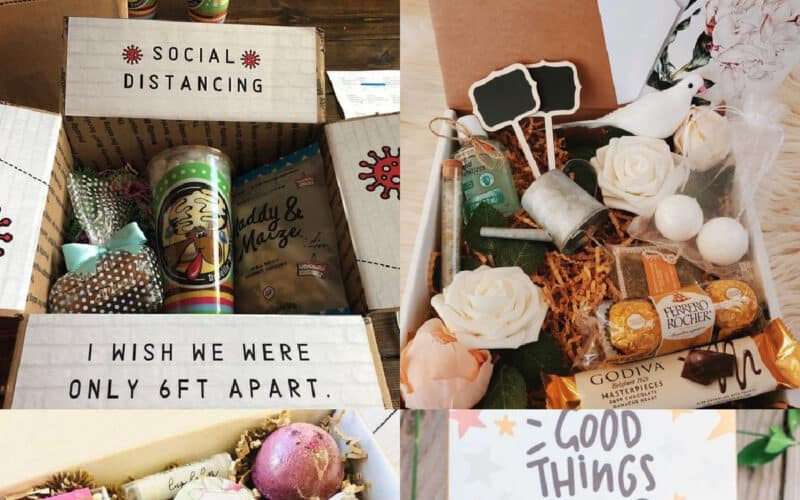 care package for best friends collage of ideas
