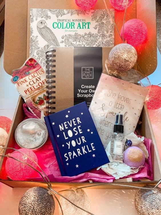 care package idea for bestfriend never dull your sparkle