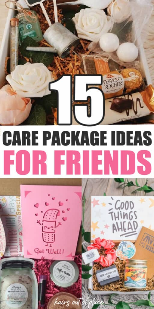 care package ideas for friends pinterest pin
