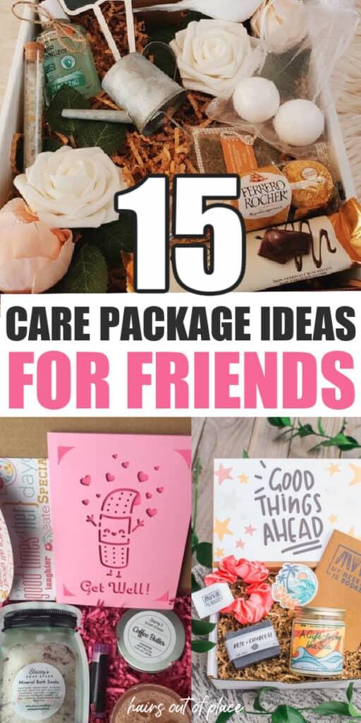 paquete de cuidado ideas para amigos pinterest