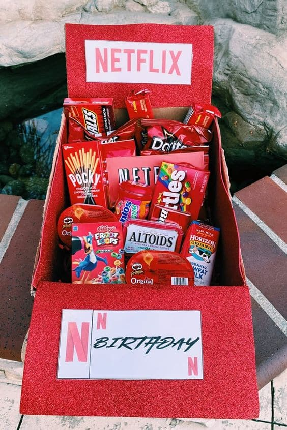 care packages cute for friends netflix