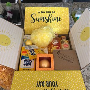 cute idea care package for friends brighten your day