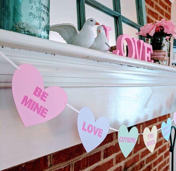 cute ideas galentines heart banner
