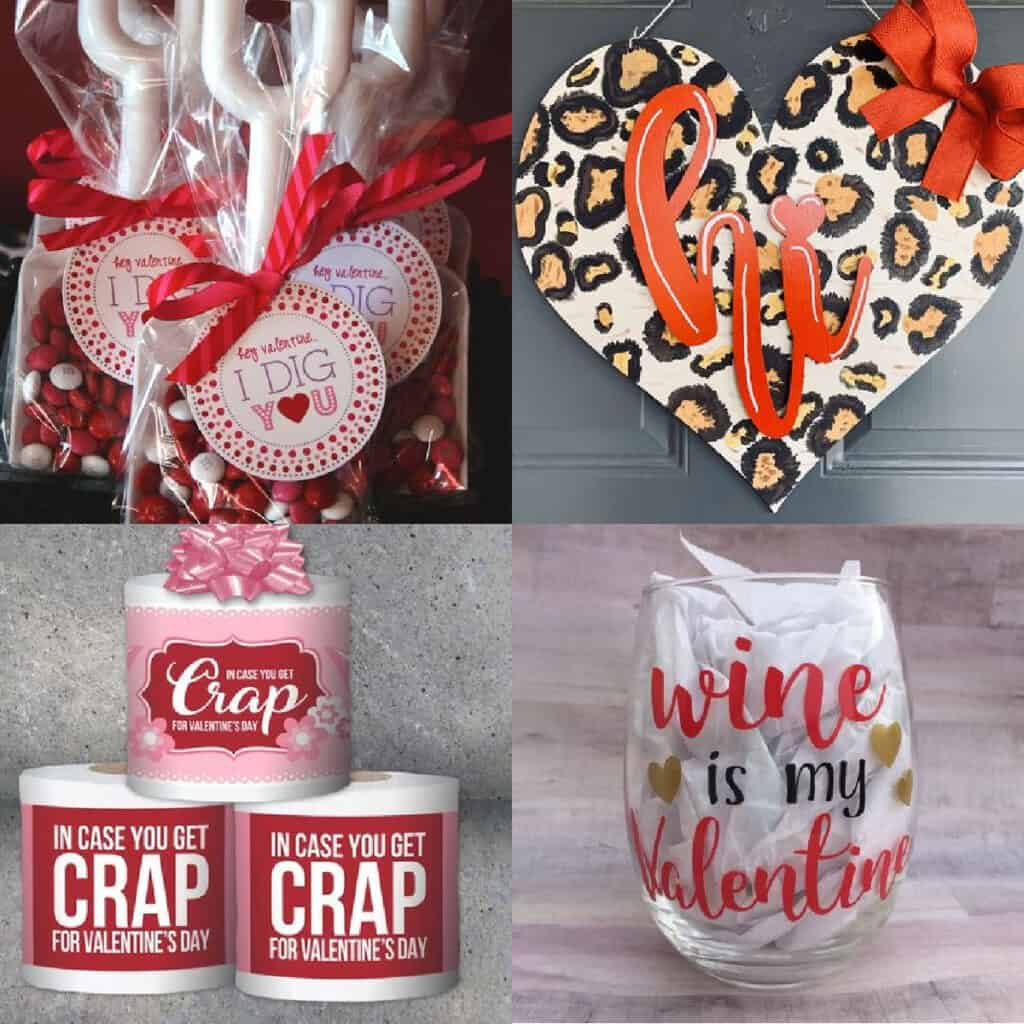 galentines day gift ideas collage of gifts