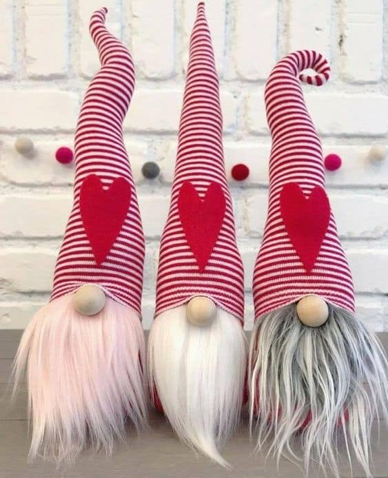 galentines gifts that are cute pink white and gray knomes