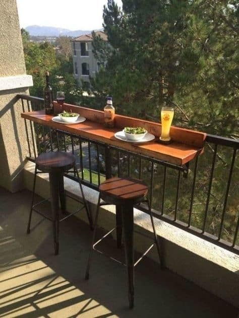 Cute balcony decorating ideas diy outdoor bar and seating