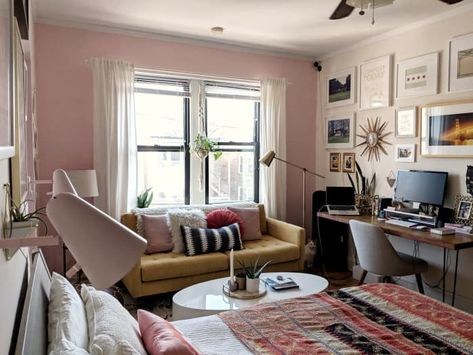 apartment studio decor ideas brick wall studio