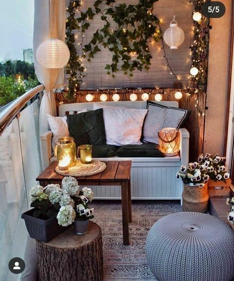 balcony decorating looks to try mini sofa and table set up