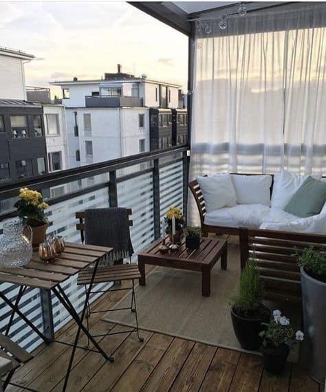 balcony inspo decorating ideas outdoor curtain cozy look