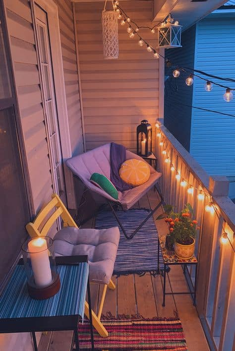 cute decor ideas for balcony simple and cute outdoor look with lights
