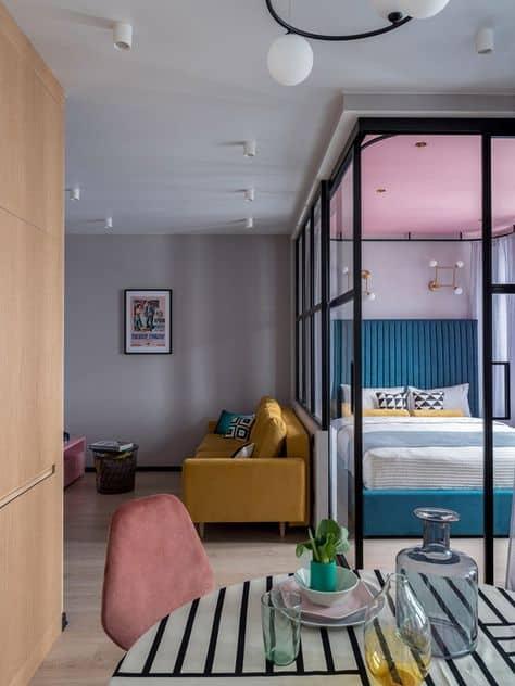 decor ideas for studio apartment colorful and trendy studio