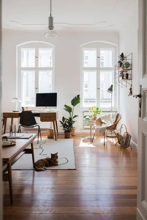 decor ideas studio apartment wood floors white and bright studio