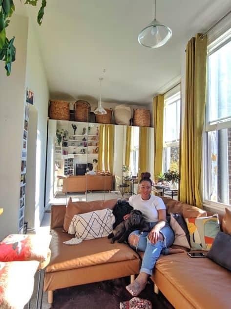 decoración para un apartamento pequeño, linda sala de estar y dormitorio