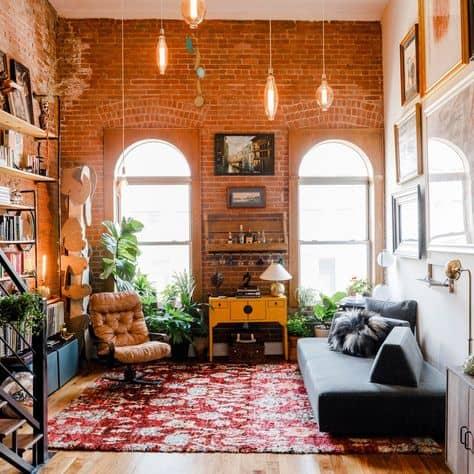 design decor ideas small studio apartment charming brick studio