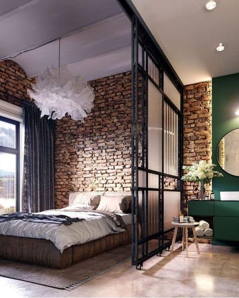 design ideas small studio apartment brick tall ceiling studio