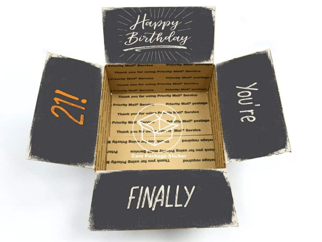 idea de paquete de cuidado para cumpleaños de amigos