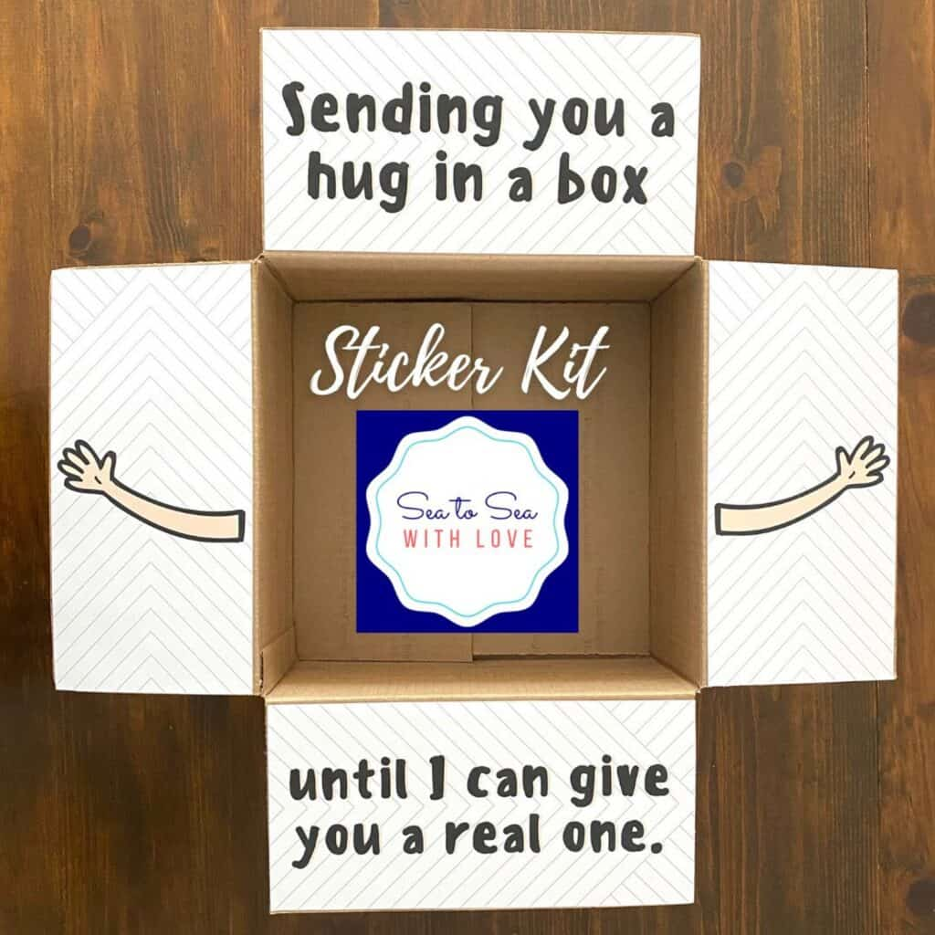 Ideas de paquetes de cuidado para pegatinas de amigos