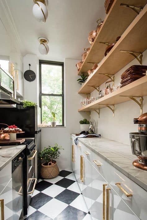 small apartment studio decor small kitchen inspo