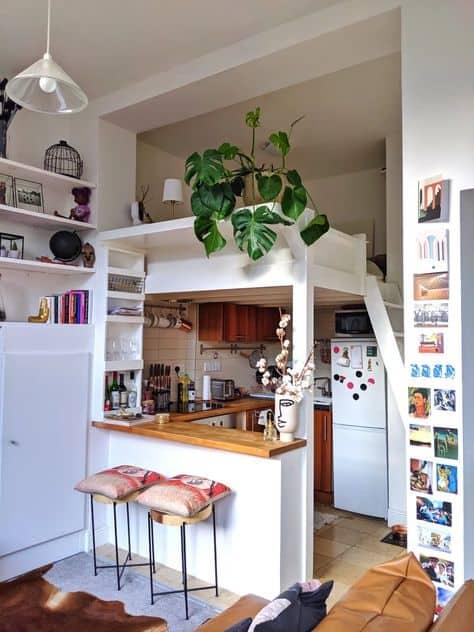 small apartment studio ideas mini bar and kitchen
