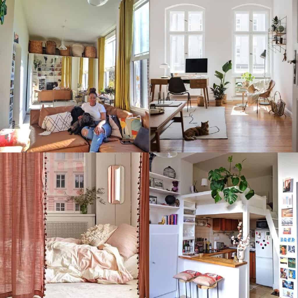 small studio apartment design ideas collage