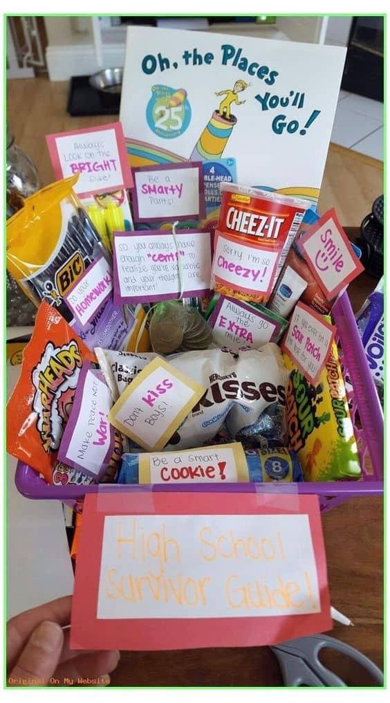 best grad gift basket idea snack gift basket