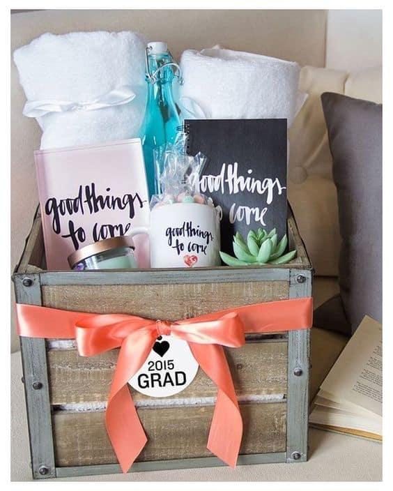 best ideas gift basket graduation positivity sayings basket