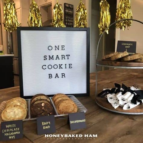 college grad party cool ideas one smart cookie bar