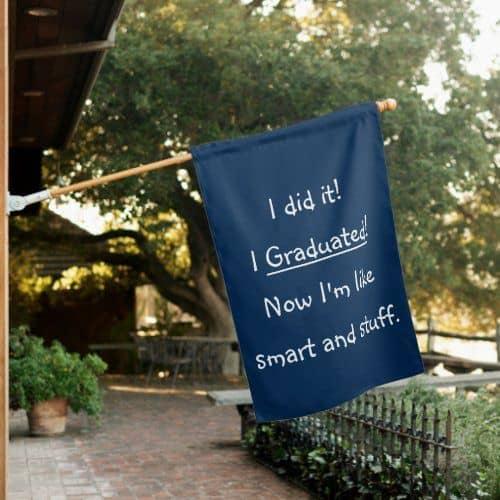 college graduation party fun decor funny sign