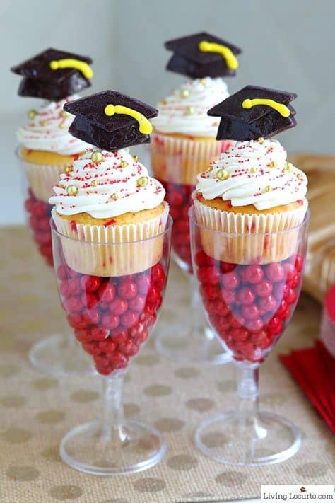 cool ideas college graduation party candy parfait
