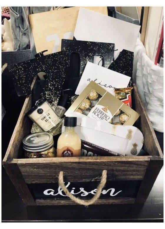 cute gift basket ideas personalized gift basket