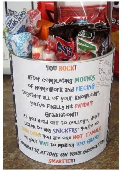 grad gift basket cute you rock candy basket