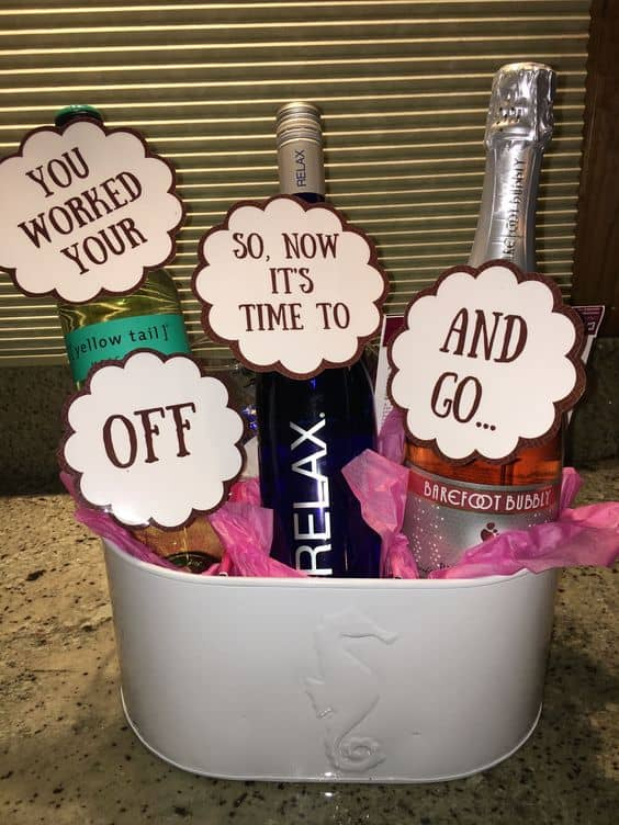 grad gift basket ideas wine grad basket funny with funny sayings