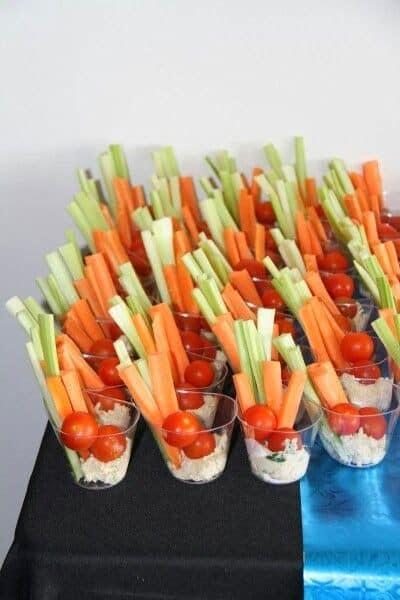 graduation food ideas best party veggie cup