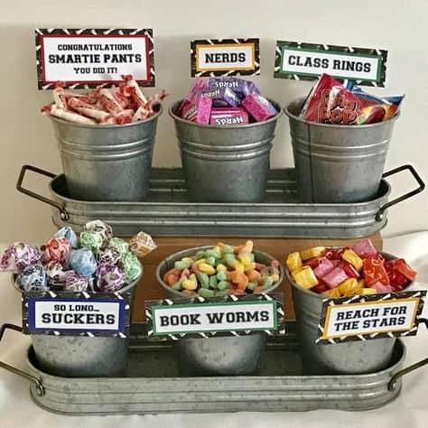 graduation food ideas party candy bar