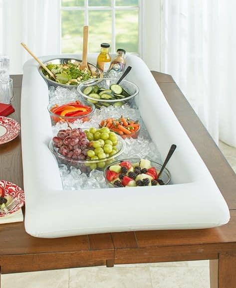 graduation party food ideas veggie and fruit ice bath
