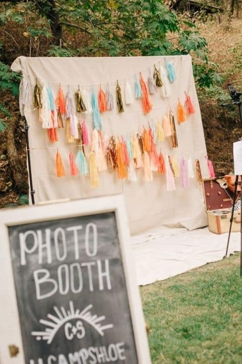 backdrop ideas for grad party tassel photo booth