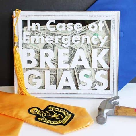 best money gifts for the grad glass money case
