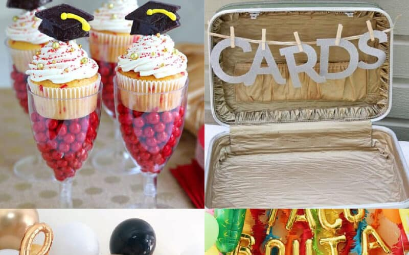 college graduation party ideas collage of images