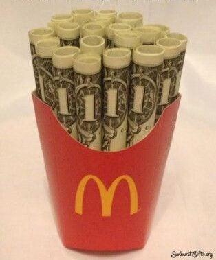 fun money gift ideas graduation money fries