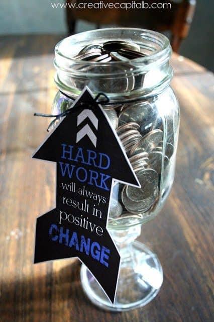 graduation money gift ideas change jar grad present