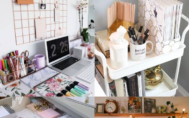 college desk organization ideas
