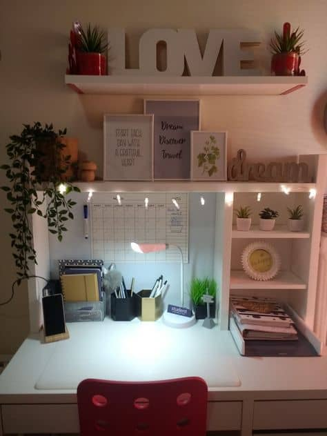 dorm room desk ideas organize