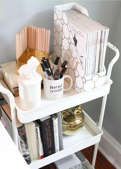 organize your dorm room desk