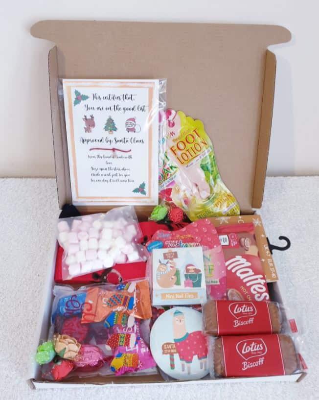 adult kids christmas eve box ideas diy secret santa