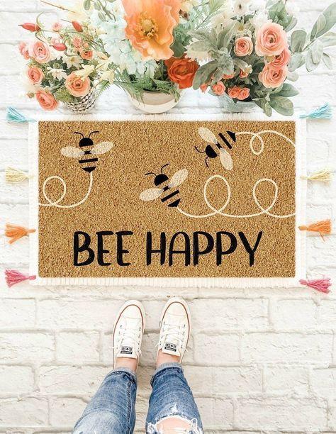best doormat ideas front door bee happy doormat