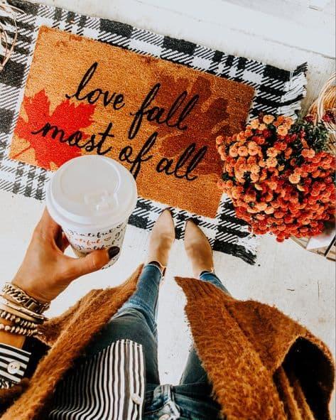 best front doormat love fall most of all doormat