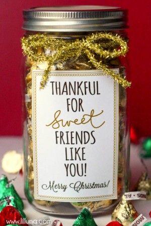 best gifts diy for best friends jar goodies