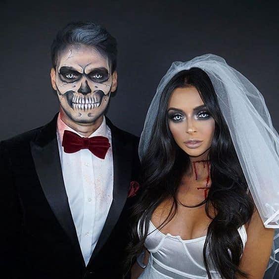 best halloween couples costume sexy bride and groom