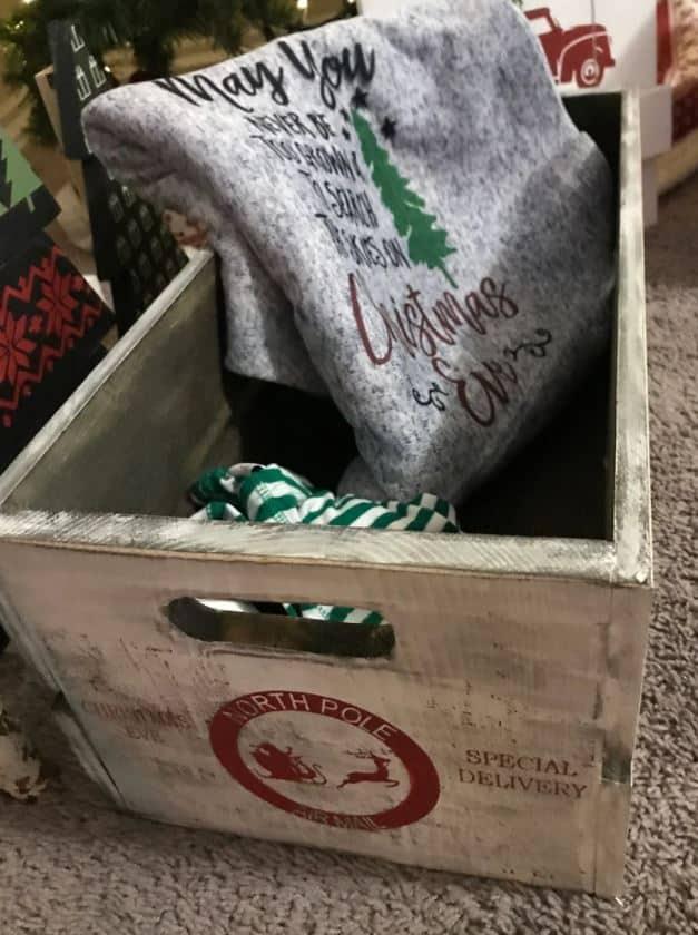 christmas eve crate large christmas box